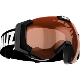 Bliz Carver Lunettes de protection, black-white/orange